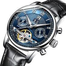Suíça binger relógios masculinos de luxo marca tourbillon múltiplas funções resistente à água relógios mecânicos masculinos B 8603M 6