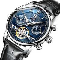 Suisse BINGER montres hommes marque de luxe Tourbillon fonctions multiples résistant à l'eau mécanique mâle montres B-8603M-6