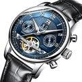 Suiza binger relojes hombres marca de lujo de múltiples funciones de tourbillon mecánica a prueba de agua relojes de pulsera b-8603m-6