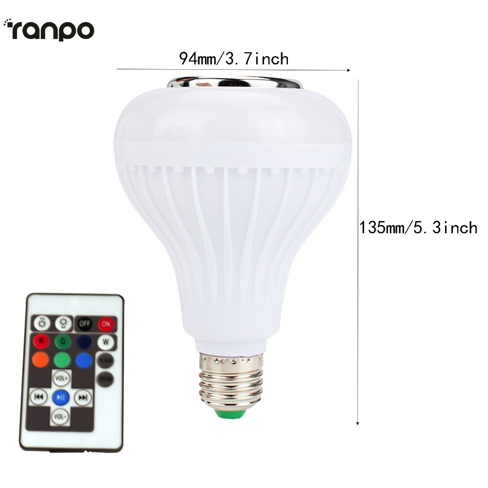 E27 Glühbirne Intelligente Bunte Led lampe Bluetooth Lampe Musik ...