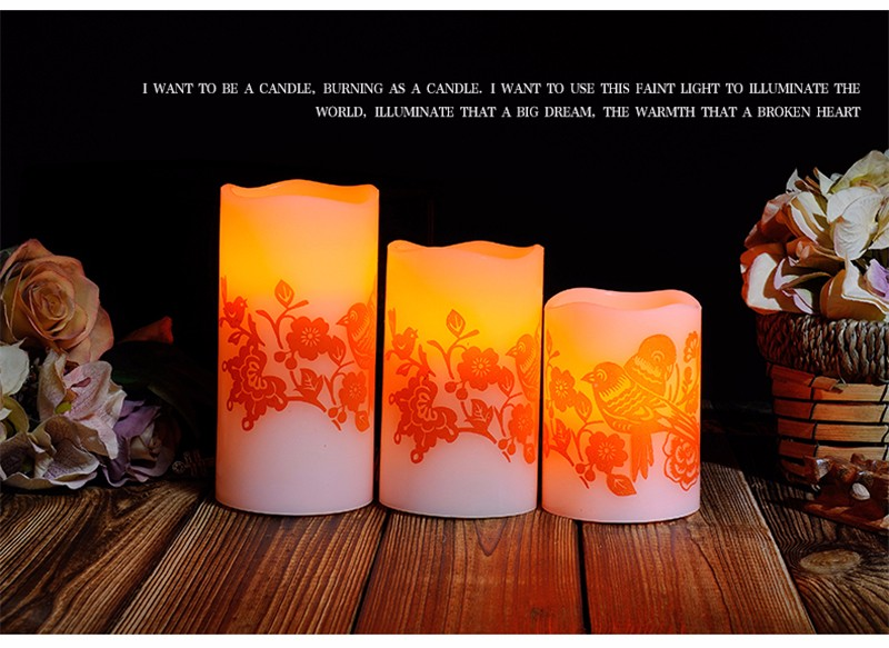 Led Electronic Candle Light Wedding Romantic Decoration Znicz Bougie D Coratives Wax Flameless Pillar Candles Home Decor DDZ281 24