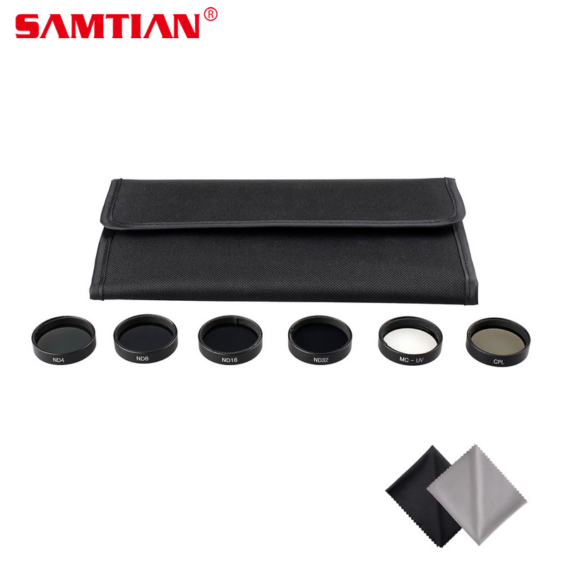 SAMTIAN Practical 6PCS Camera Filter Lens Set CPL Polarizer +ND4+ND8+ND16+ND32 + MCUV for DJI Phantom 4 Phantom 3 Pro
