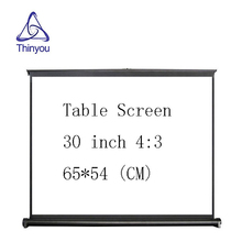Thinyou 30 inch 4:3 Easy carry HD projector screen Manual Pull Up Adjustable Height Matte White for Home Cinema Business Meeting