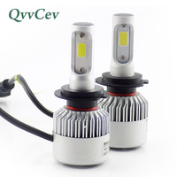 Qvvcev H7 Led Car Headlight 6500K Light 72W 8000LM Auto Led Light Bulbs For Cars Automobiles