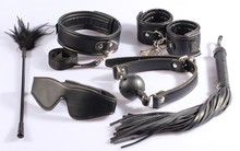 Colonias Masculinas Juguetes Sexuales Sex Toys For Woman 6 Sets:mask,whip, Collar,gag And Feather Tickler Sex Toy leather