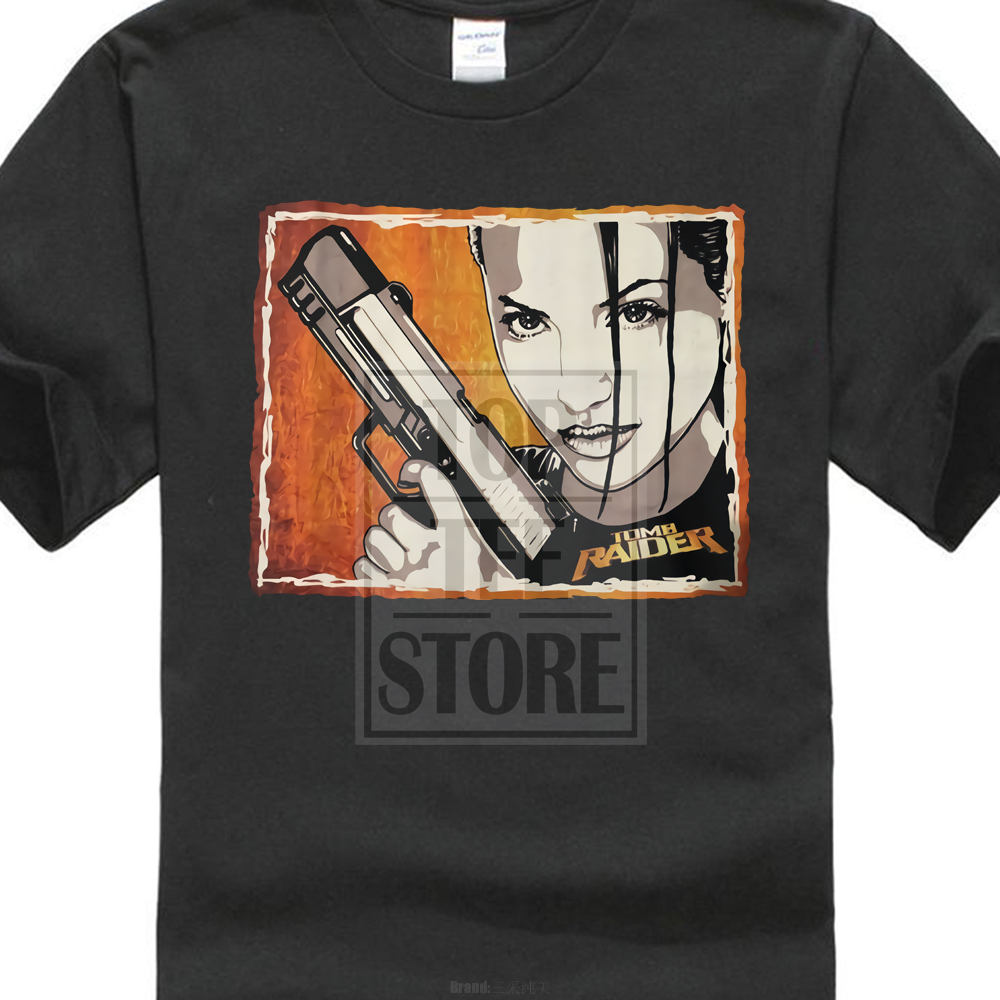Angelina Jolie Tomb Raider Lara Croft Original Art T Shirt Size S To 4Xl ...