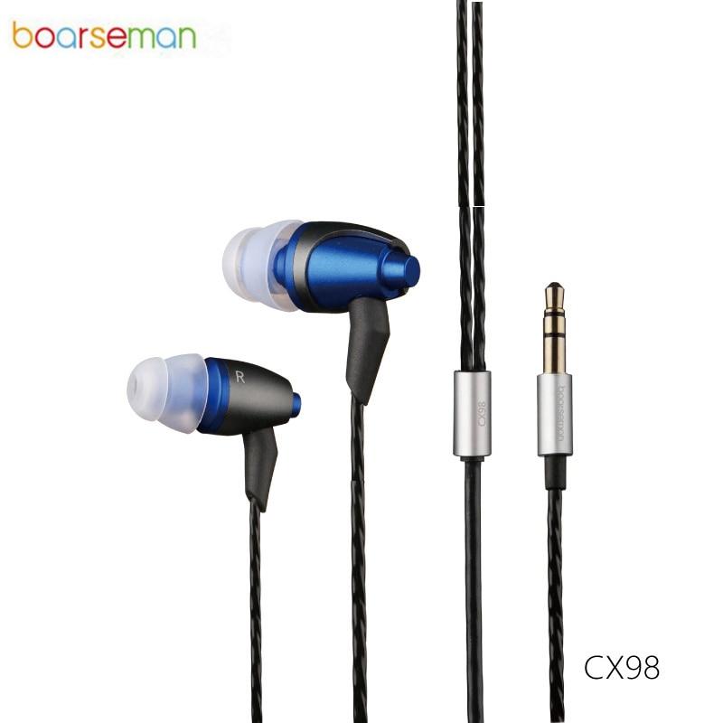 Original Boarseman CX98 In Ear Earphone 3.5MM Hifi super bass Headset Dynamic Earbud For iPhone 6s xiaomi mi sports earphone