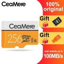 CeaMere Micro SD Card da 256 GB/128 GB/64 GB UHS 3 32 GB/16 GB/8 GB Classe 10 UHS 1 4GB di Memoria Flash Card di Memoria Microsd Trasporto Crad Reader