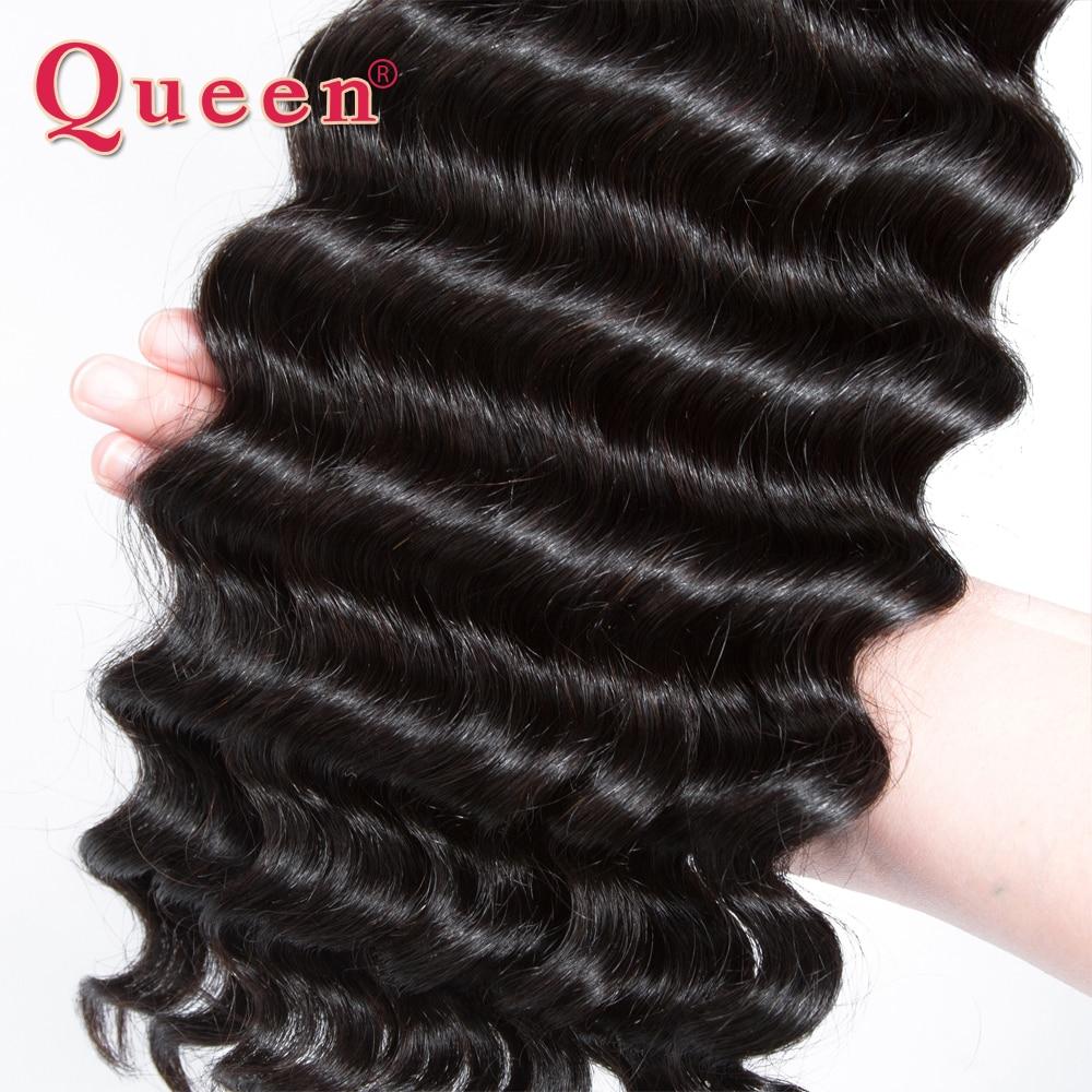 Queen Hair Products Պերուական մազերի ալիքների - Մարդու մազերը (սև) - Լուսանկար 4