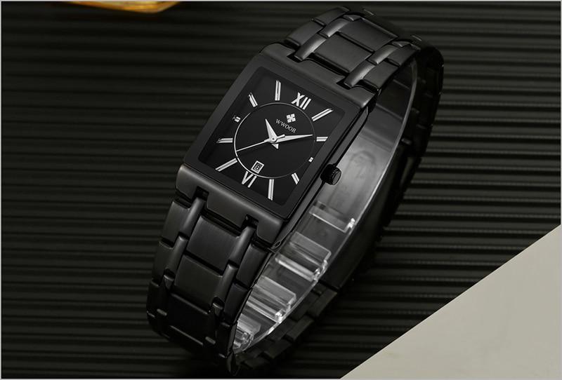 HTB1z1B8agaH3KVjSZFpq6zhKpXaF Men Watches Top Brand Luxury WWOOR Gold Black Square Quartz watch men Waterproof Golden Male Wristwatch Men watches