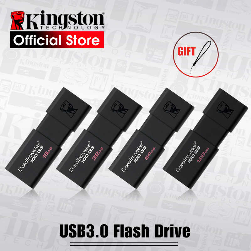 Kingston unidades Flash USB 8GB 16GB 32GB 64GB 128GB USB 3,0 Pen Drive de alta velocidad dispositivos DT100G3