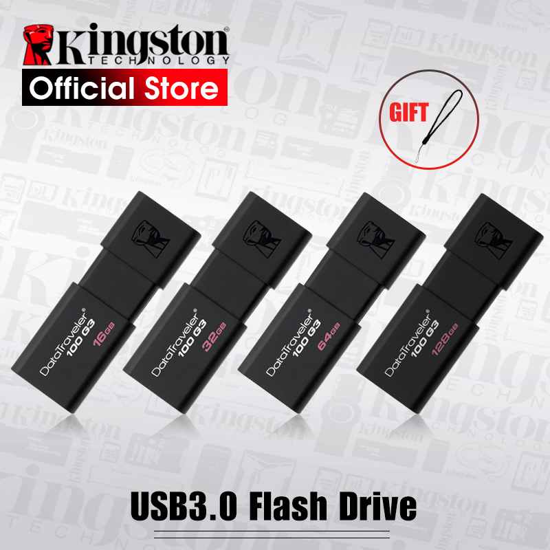 Kingston unidades Flash USB 8 GB 16 GB 32 GB 64 GB 128 GB USB 3,0 Pen Drive de alta velocidad dispositivos DT100G3