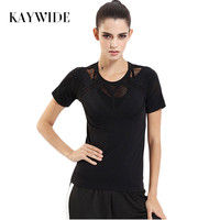 Kaywide 2017 Summer Hollow Out Sexy Women T Shirt Harajuku Sporting Breathable Casual Tops Ladies Quick