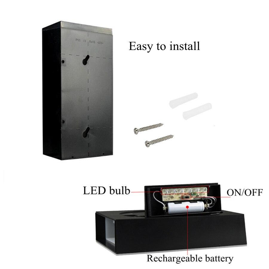 Lâmpadas Solares energia solar 6 lâmpada led Charging Time : 6 Hours