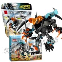 112pcs Bela Hero Factroy SPLITTER Beast FURNO EVO Model Building Bricks Action Robots Toy Compatible With
