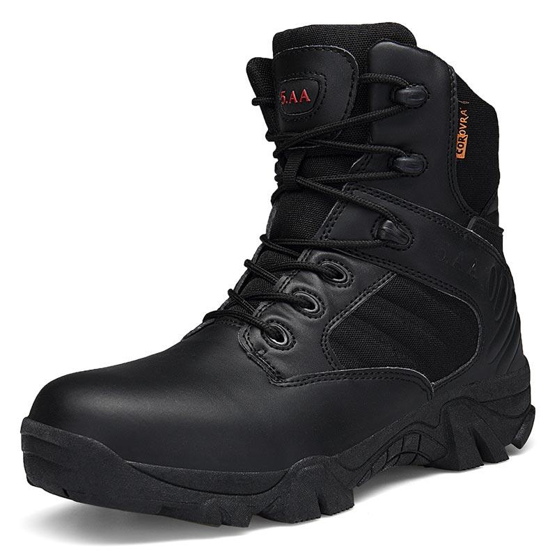 Do Força Exército Bota Da Bege Trabalho Sapatos Tático Homens Boots Ankle Outono Couro Dos Neve Militares Combate Botas De preto Especial Deserto Inverno Segurança vaxASZq
