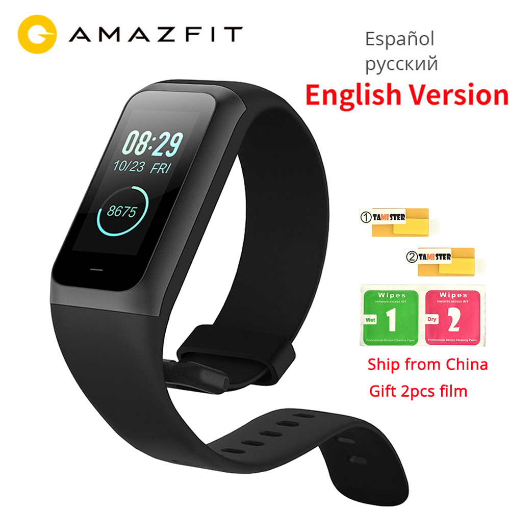 """English Original Xiaomi Huami Amazfit Cor 2 Smart Band 2 Music Control 5atm Waterproof 1.23"""" Color Touch Screen Long Standby New"""