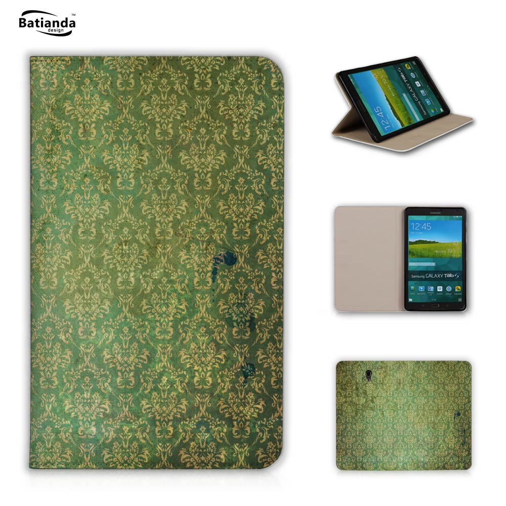 Fashion Damask Luxury Flip Leather Cover For Samsung Galaxy Tab S 8.4 T700 T705 Tablet Cases With Stand Function+ Screen Film