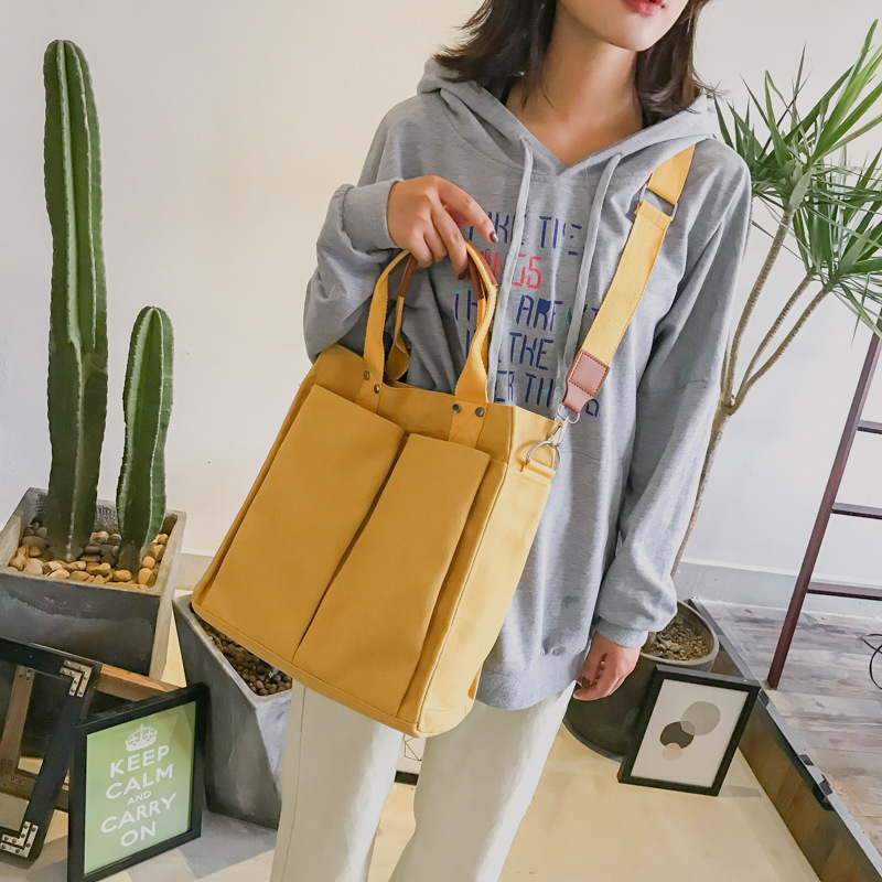 Fashion Women Messenger Bag Canvas Shoulder Bags 2018 Autumn Winter New Hot Female Students School Bags Handbags