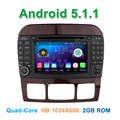 Quad core Android 5.1.1 Dvd-плеер Автомобиля для Mercedes/Benz S Class S500 W220 S280 S320 S350 S400 S420 S430 S600 Радио WiFi BT GPS