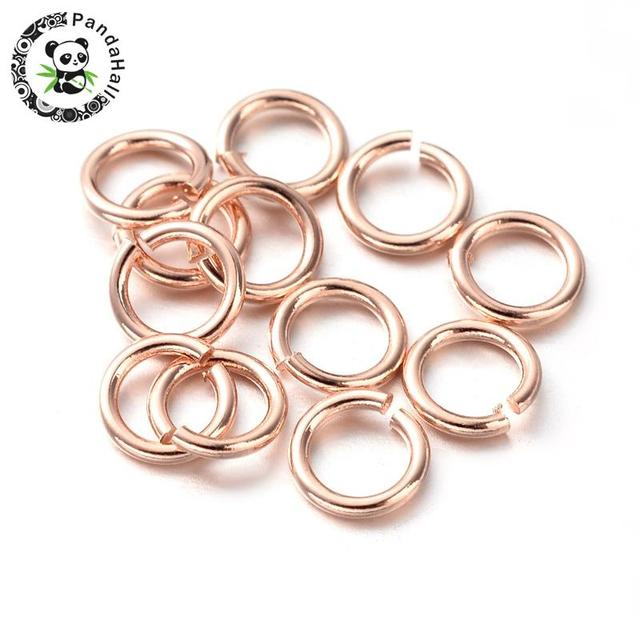 52c2cb78c9f04 US $20.63 25% OFF|Environmental Vacuum Plating Color Preserved Brass Open  Jump Rings, Rose Gold, 4x0.8mm-in Jewelry Findings & Components from  Jewelry ...