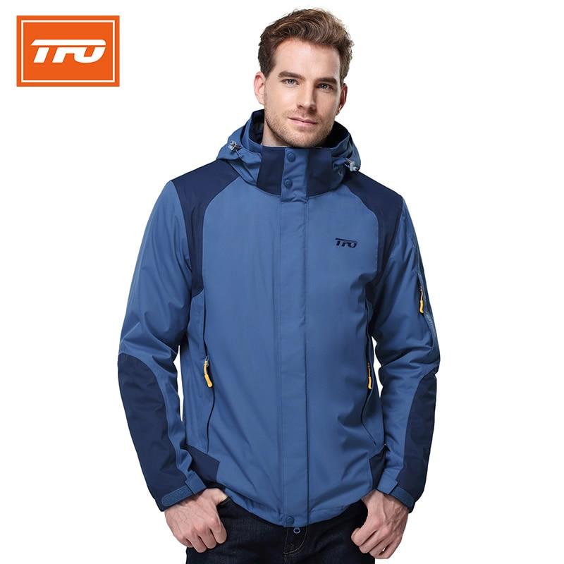 все цены на TFO Men Hiking Waterproof Rain Jacket Windbreaker Sport Coats Windproof Breathable Mountain climbing  Fleece Jacket 662757 онлайн