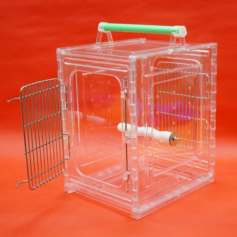 Cage portative de transporteur d'oiseau de perroquet résistante aux morsures Durable appropriée aux perroquets de petite taille - 5