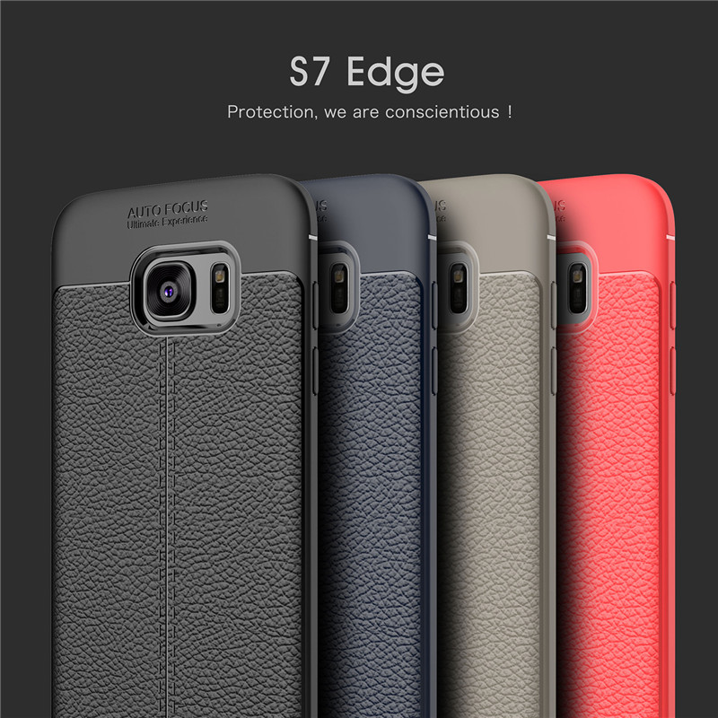 a113cdffc34 For Samsung Galaxy S7 Case Fashion Ultra-Thin Shockproof Soft TPU Leather  Phone Cover For Samsung Galaxy S7 Edge Back Case Funda