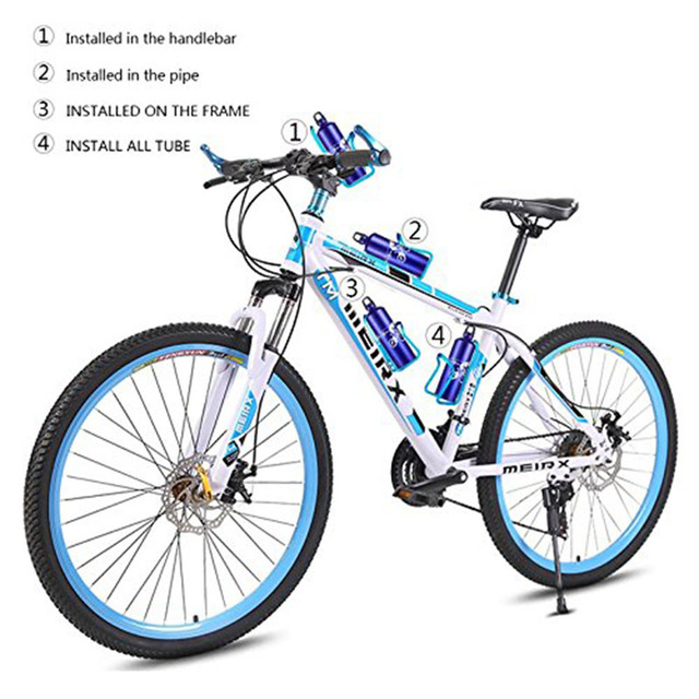 Aluminum Alloy Bike Cycling Bicycle Drink Water Bottle Rack Holder Mount for Mountain folding Bike Cage 1