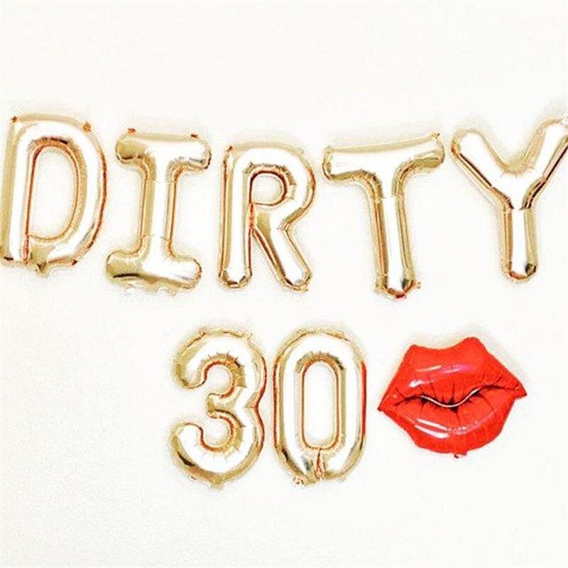 7 шт./лот, розовое золото, грязные 30, 30, 30, вечерние украшения для дня рождения, милые девушки, с днем рождения, Пончик, воздушные шары, вечерние ...