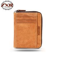Cow Leather Business Card Holder Minimalist Bank Credit Case Card Id Holder Zipper Rfid Wallet Porte Carte Pasjes Houder