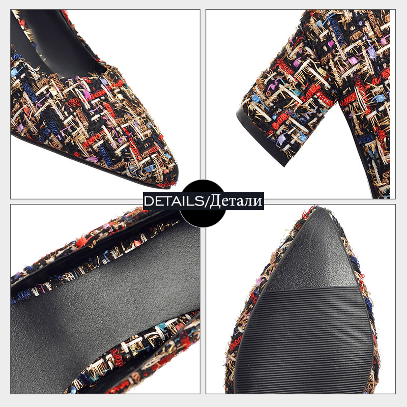Marque Talons Glissement Haute Bout noir Mode color Profonde Jk Chaussures Femmes Sur Pointu Élégantes 2018 Bureau Pompes Beige Peu Dames De Carrés wAq86E
