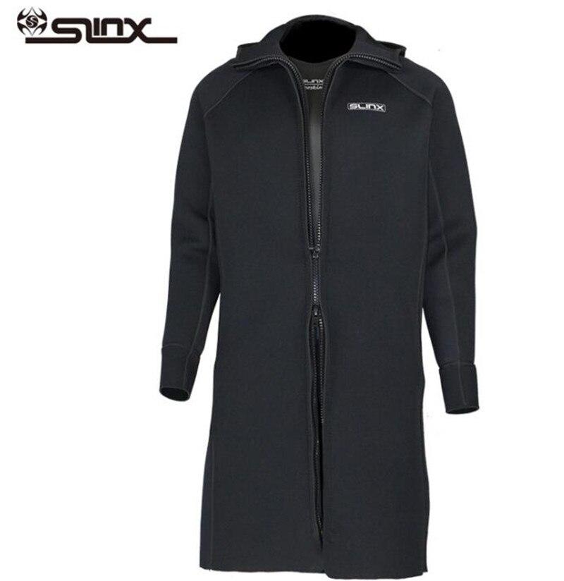 SLINX 3MM Neoprene Men Scuba Dive Jacket Wetsuit Long Sleeve Suit Winter Waterski Surfing Warm Swimwear Zipper Coat-in Wetsuit from Sports & Entertainment    2