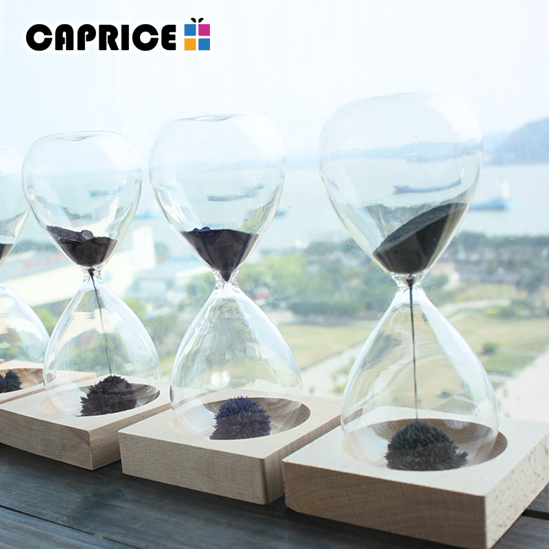 Magnetic Hourglass Sand Hourglass Count Down Timer Desk Clock Ampulheta Home Decor Magnetic Timer Decoration Accessories
