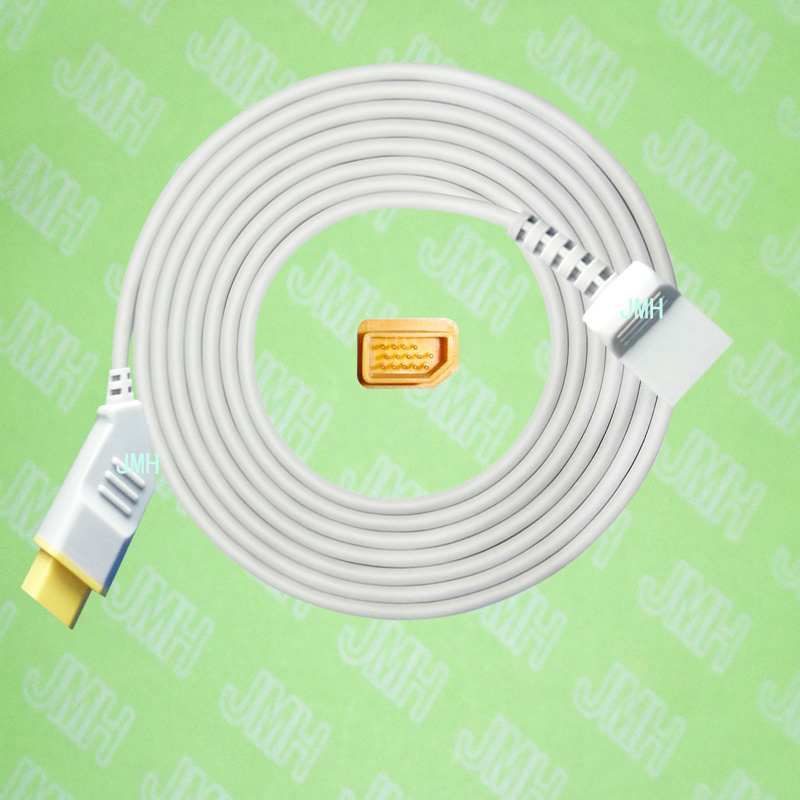 Compatible with Nihon Kohden BSM3200 /4100/5100/9510/9800/1500 the Utah IBP transducer Adapter cable,14pin to 4pin. free shipping compatible for drager 8060 to abbott transducer ibp adapter cable red 10pin ibp cable tpu patient monitor cable