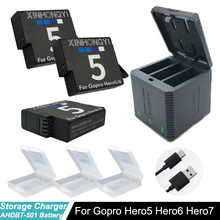 1600mAh Hero 7 battery + Type-C USB 3 Slots storage box charger for GoPro hero7 6 5 Go Pro 7 Hero 6 Hero 5 Camera accessories 3pc for gopro 2018 gopro hero 5 battery 1600mah gopro 6 7 battery usb battery charger type c for gopro hero5 black accessories page 3 page 6 page 9 page 10