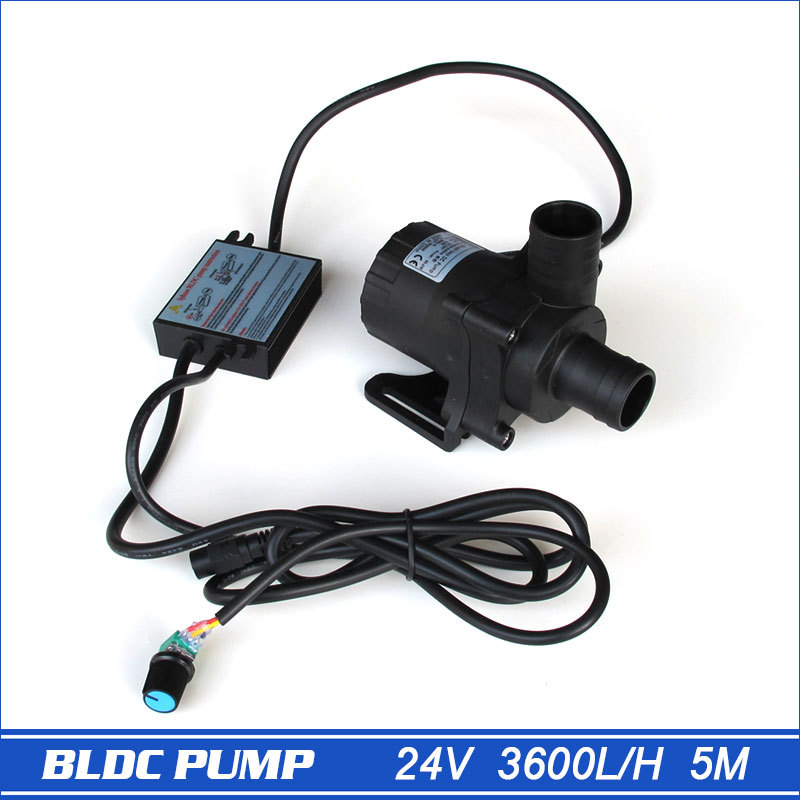 24V DC Solar Water Pump DC50A-2450A, 1pcs 3600L/H 5M Submersible mini Size, Speed Adjustable By Manual or Program
