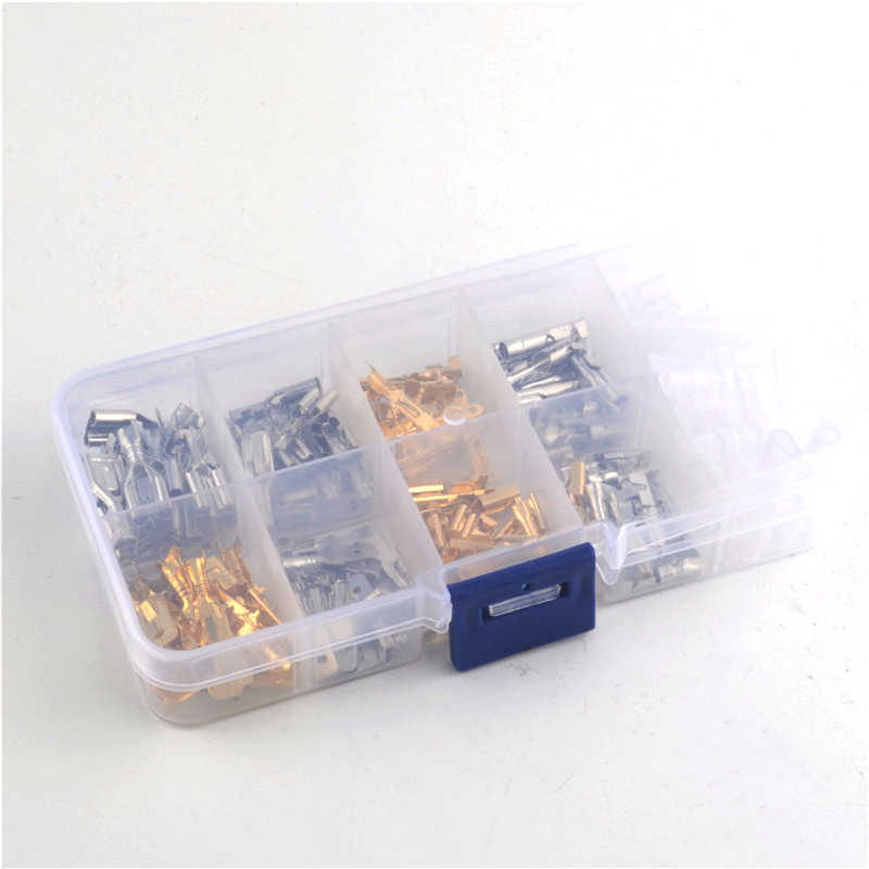 150Pcs Insulated Electrical Wire Crimp Terminals 2.8/4/4.8/6.3mm Spade Connectors Assortment Kit with Box