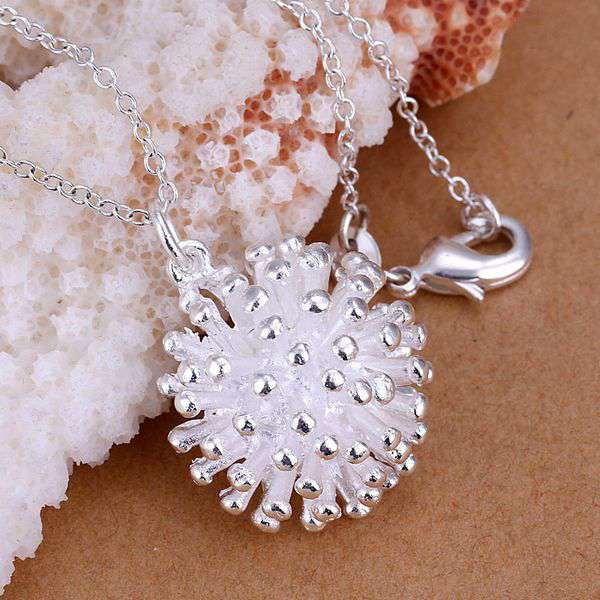 Constructive Silver Plated Jewelry Pendant Fine Fashion Cute 925 Jewelry Silver Plated Fireworks Necklace Pendants Top Quality Cp178 Great Varieties