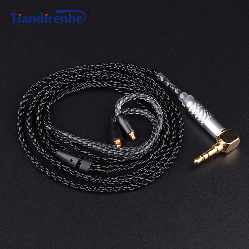 Upgrade MMCX Cable for Shure SE215 SE425 SE535 SE846 Earphone Silver-plated Copper Headphone Wire for iPhone xiaomi Android IOS areyourshop 5pair earphone pin plug for shure ed5 se535 carbon fiber mmcx rhodium plated silver