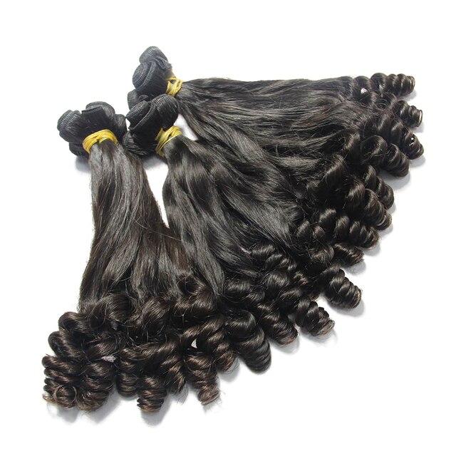 Unprocessed Malaysian Virgin Hair Funmi Curly Human Hair Weave