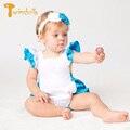 TWINSBELLA Девочку Трико Мода Крылья Золушка Платье Костюмы для Новорожденных Детей Baby Girl Одежда с Цветком Hairband