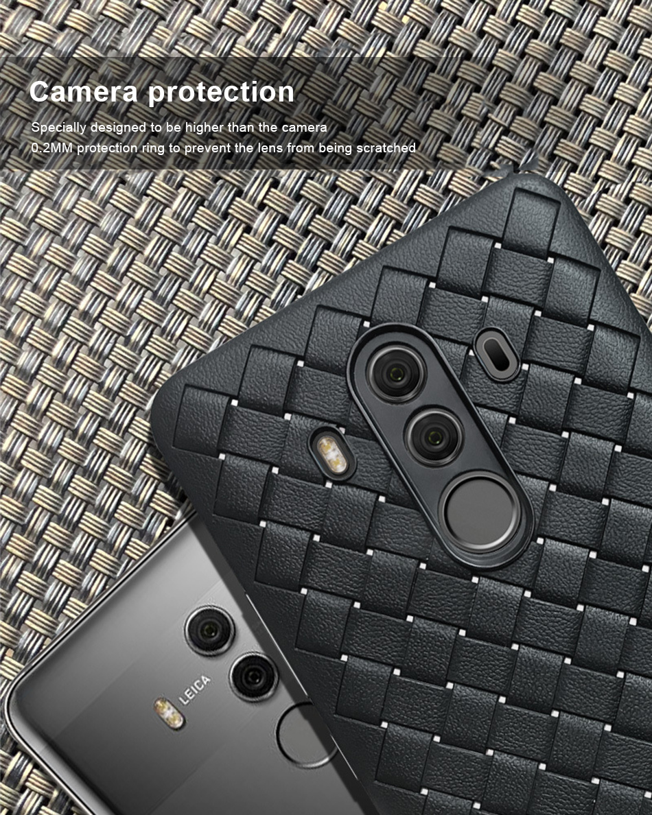 !ACCEZZ Luxury Soft TPU Ultra-thin Protective Back Cover Shell For Huawei Mate1010pro Phone Cases BV Weave Capa Fundas Coque (6)