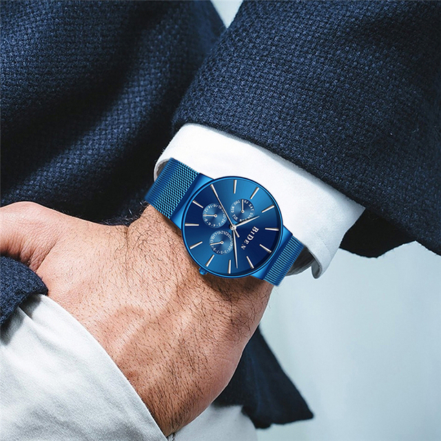 Men's Unique Blue Wristwatches