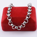 9mm Heavy Thick 7inch-11inch Men Women  Stainless Steel Bracelets Femme Link Rolo Chains Hip Hop Wholesale