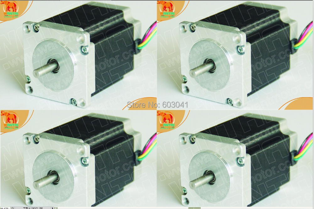 4 PCS Wantai Stepper Motor/Stepping motor, Nema 23 with 270oz-in, 3.0A, 78mm,6 leading wires, 2 phases, CNC Engraver, Mill, Cut 1pc 1 8 degree nema42 stepper motor 110hs99 5504 with 4 wires 5 5a 48v 220v 11 2n m cnc mill cut engraver 3d printer