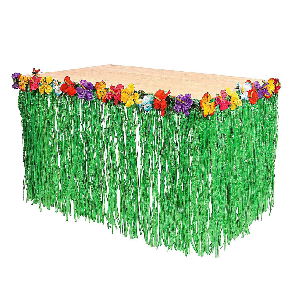 Hot sale hawaiian hibiscus natural string colorful faux flowers hot sale hawaiian hibiscus natural string colorful faux flowers table grass skirt for party events decor 9ft in table skirts from home garden on izmirmasajfo