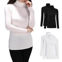 Winter Women's New Slim Blouse Long 2017 Turtleneck Shirt Blouse Long sleeve  High Neck Tops Blousas