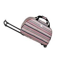 High Quality 20 Inch Oxford Cloth Business Draw Bar Luggage Plastic Wheel Metal Rod Trolley Bag