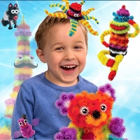 400pcs Set Assemble 3D Puzzle DIY Puff Ball Creative Thorn Ball Clusters Handmade Educational Toys For
